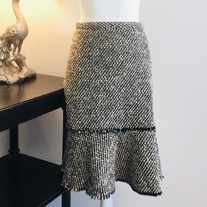 J. Crew recycled wool tweed midi skirt